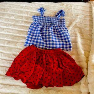 Gap kids skirt Size S age 6 -7 top cat & jack 5T